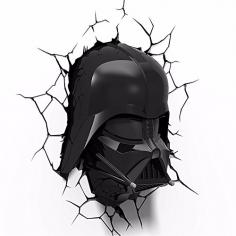 Star Wars Darth-Vader 3D Kopf Wandlampe