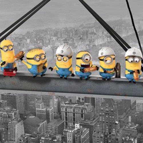 Poster - Minions Lunch on a Skyscraper