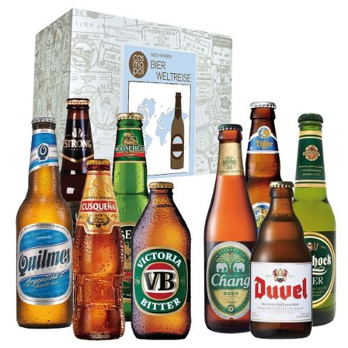 Geschenkbox Bier Weltreise