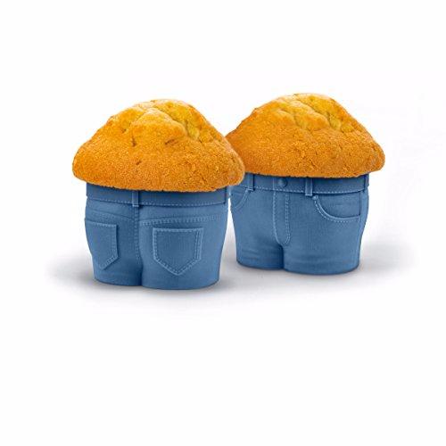 Muffinform im Minions Jeans-Look