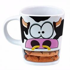 Kuh Kaffeebecher mit Keksablage