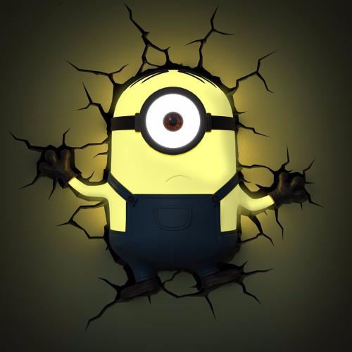 Minions 3D-Wandleuchte Stuart