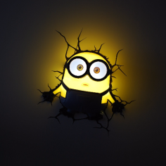 Minions 3D-Wandleuchte Bob