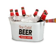 Metalleimer Bierkühler