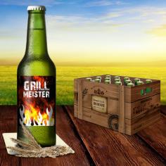 Bierflasche mit eigenen Bieretiketten