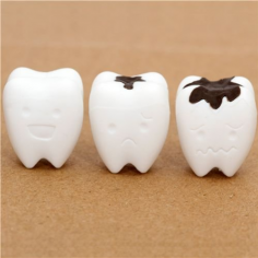 Radiergummi - weisse Zähne